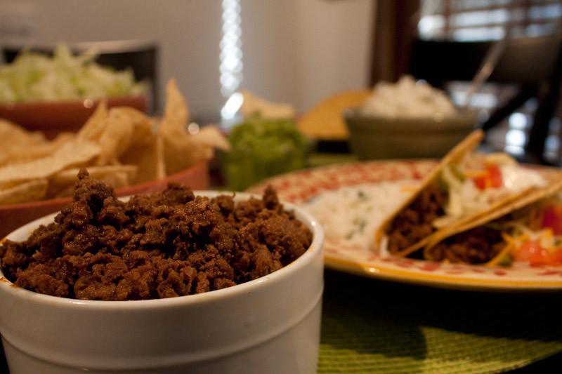 Ground Elk Tacos