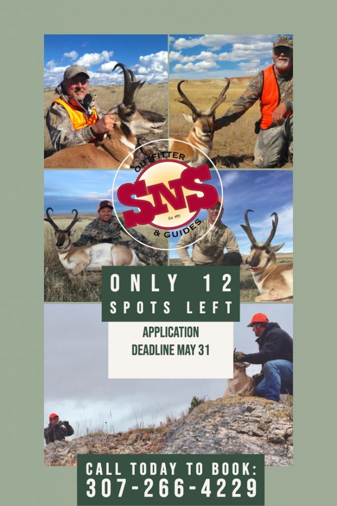 12 spots left for antelope hunts