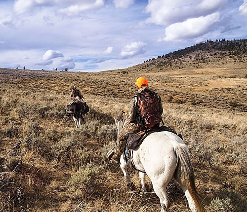 wyoming hunt by horse